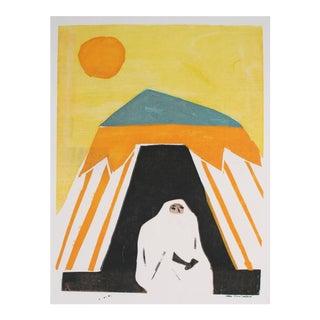"""Carol Cunningham """"Veiled Woman Under the Sun"""" Print, 1960s-1970s For Sale"""