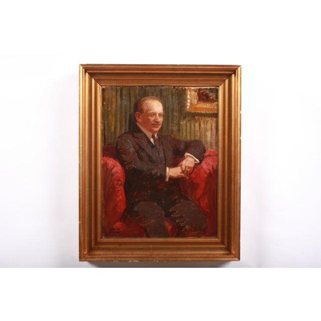 Luplau Janssen Portrait of a Man, c. 1920 For Sale - Image 4 of 4