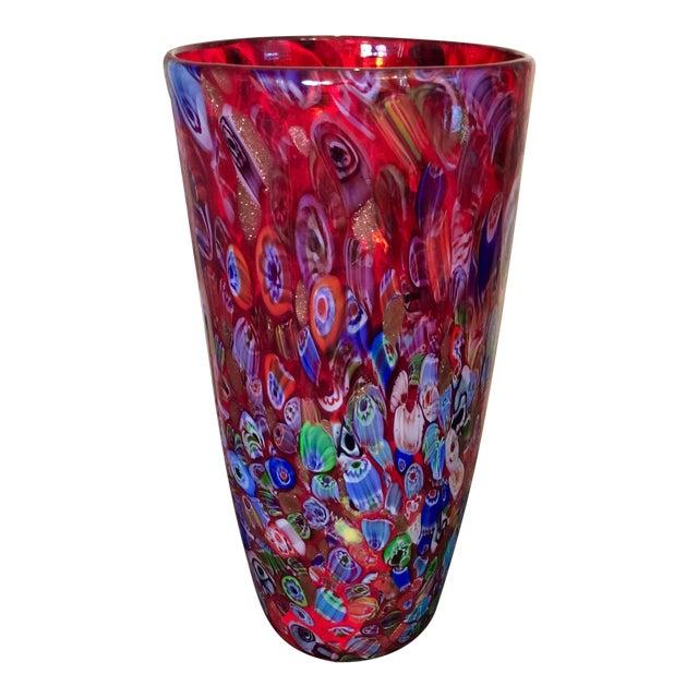 Italian Millefiori Vase Chairish