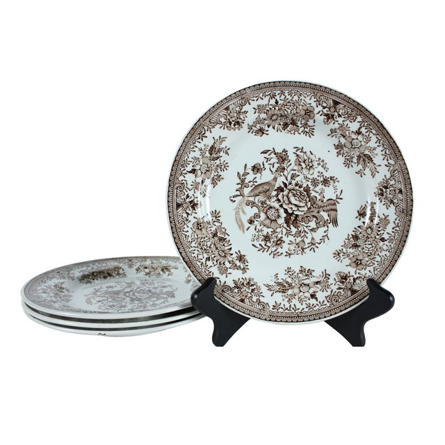 Rorstrand Asiatic Pheasants Plates - Set of 4 For Sale
