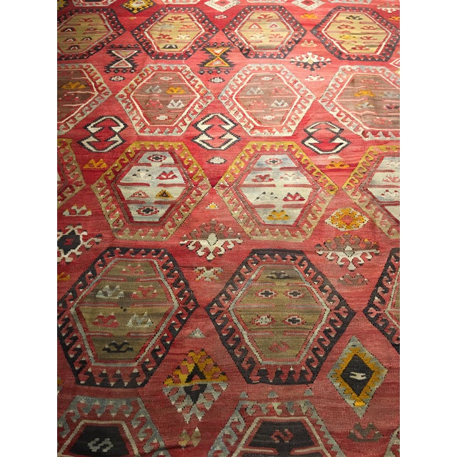 "Bellwether Rugs Vintage Turkish Kilim Rug - 8'3"" x 10'8"" - Image 5 of 11"