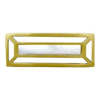 Addison Weeks McCoy Pull, Brass & White Quartz For Sale