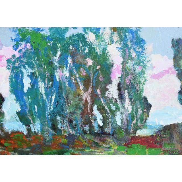 Late 20th Century Santa Barbara California Original Juan Guzman Plein Air Landscape Painting For Sale - Image 5 of 9