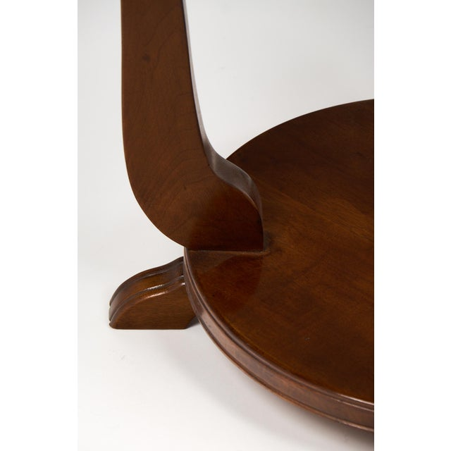 French Art Deco Garlanded Walnut Gueridon - Image 10 of 10