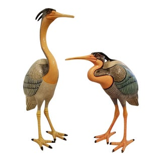 1980's Sergio Bustamante Artist Proof Life Size Great Blue Herons For Sale