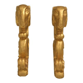 Italian Gilt Pole Brackets circa 1780 - a pair For Sale