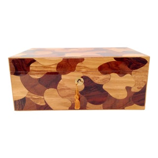 "Contemporary Italian Laquered Wood ""Puzzle""Dresser Box"