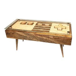 Industrial Birdseye Maple Coffee Table For Sale