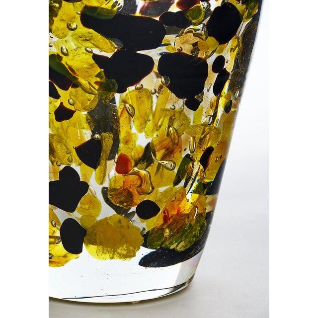 "Glass Contemporary Murano Glass ""Pollock"" Vase For Sale - Image 7 of 12"