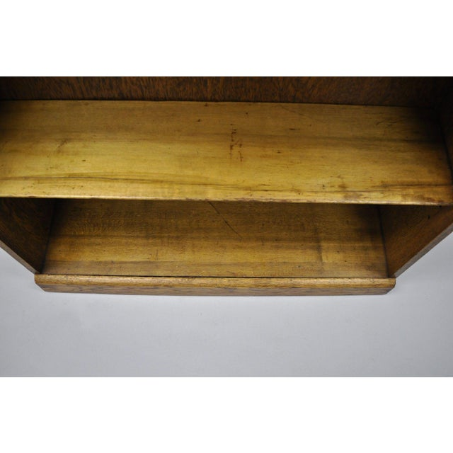 Mid 20th Century Mid Century Mission/Arts and Crafts Style Oak Two-Shelf Bookcase For Sale - Image 5 of 13