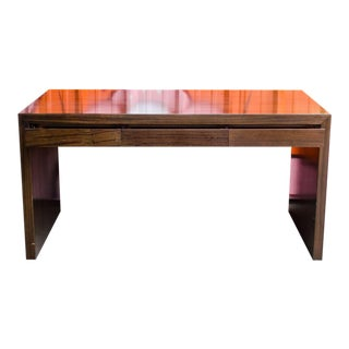 Contemporary Walnut Writing Desk For Sale