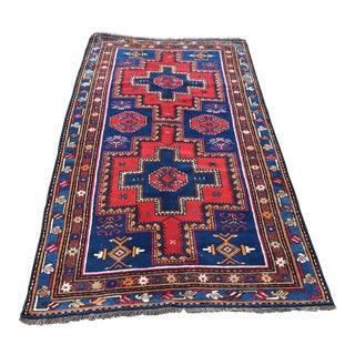 1980s Anatolian Oushak Handwowen Nomadic Area Wool Rug - 3′6″ × 6′6″