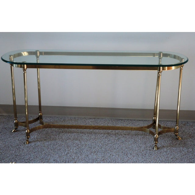 1960s La Barge-Style Brass Console - Image 2 of 7