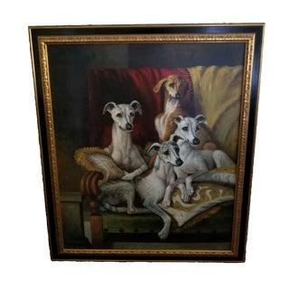 Maitland Smith-Style Greyhound Dog Painting