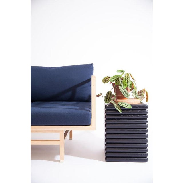 Contemporary Ebonized Ridge Side Table For Sale - Image 3 of 5