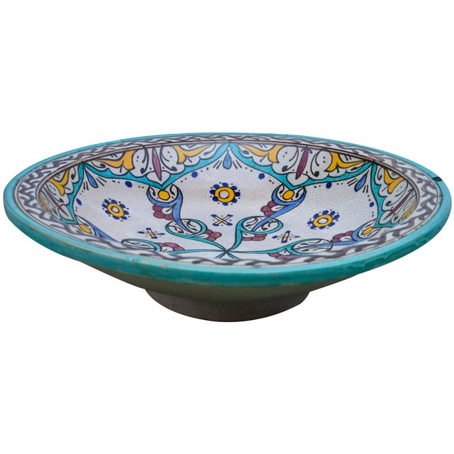 Antique Ceramic Bowl W/ Andalusian Motif For Sale In New York - Image 6 of 9