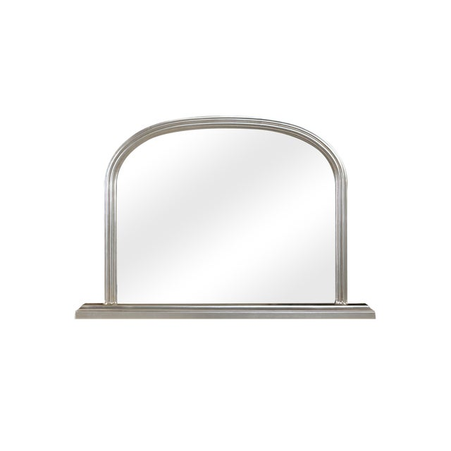 Lyon Beveled Arched Wood Frame Wall Mirror For Sale