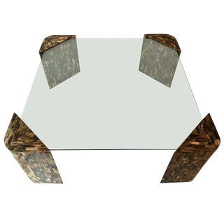Enrique Garcel Tessellated Horn Coffee, Cocktail Table For Sale