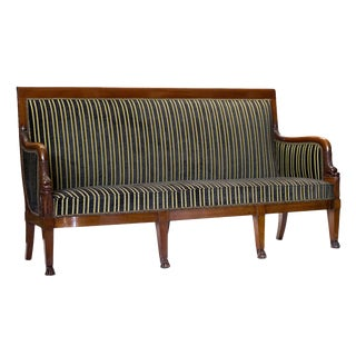 French Empire Mahogany Settee For Sale
