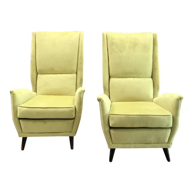 Italian Absolutely Fabulous Armchairs by ISA For Sale