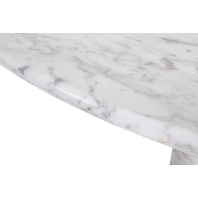 1970s Mario Bellini Il Colonnata Oval Dining Table in Carrara Marble for Cassina For Sale - Image 5 of 12