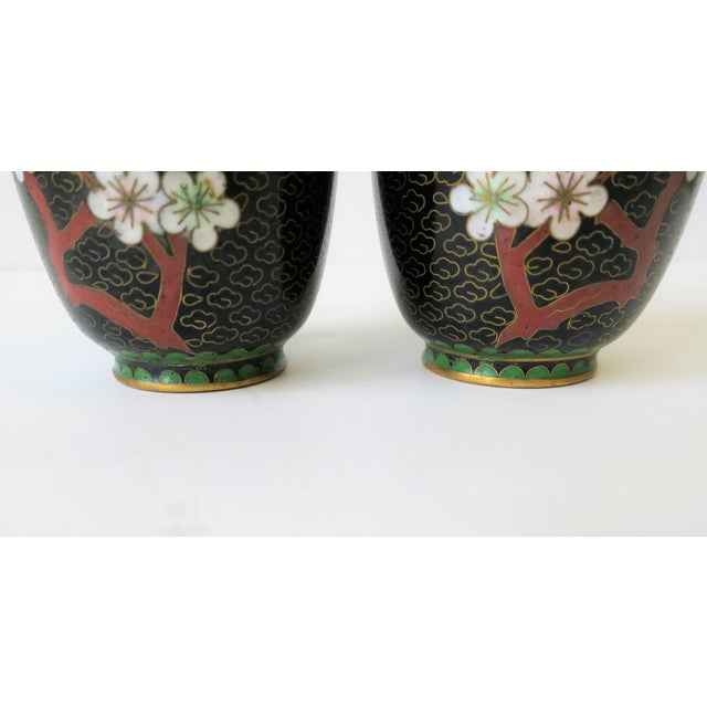 Black White and Ox Blood Cloisonne and Brass Vases For Sale - Image 10 of 13