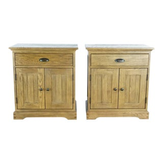 Transitional Restoration Hardware Nightstands - a Pair For Sale
