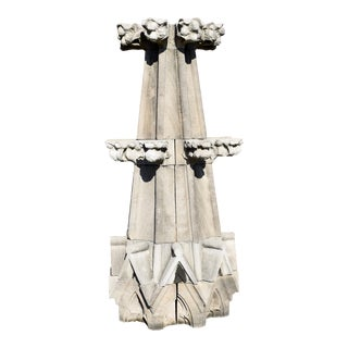 Gothic Limestone Cathedral Spires For Sale