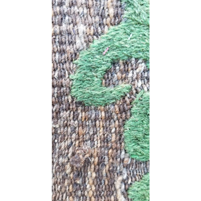 """2010s Hand Woven Hand Embroidered Wool Rug-5'6'x6'8"""" For Sale - Image 5 of 7"""