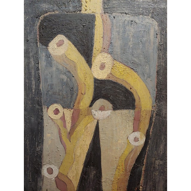 1990s Miguel Castro Lenero -The Thinker -Abstract - Oil Painting For Sale - Image 5 of 10