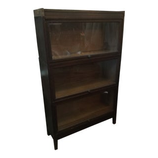 Genuine Antique Lawyers Bookcase With Glass For Sale