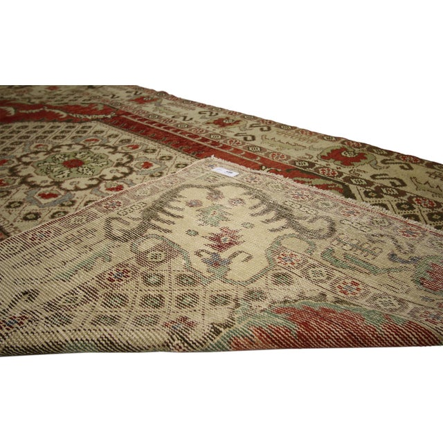 Vintage Turkish Oushak Gallery Rug - 04'09 X 09'00 For Sale - Image 4 of 6