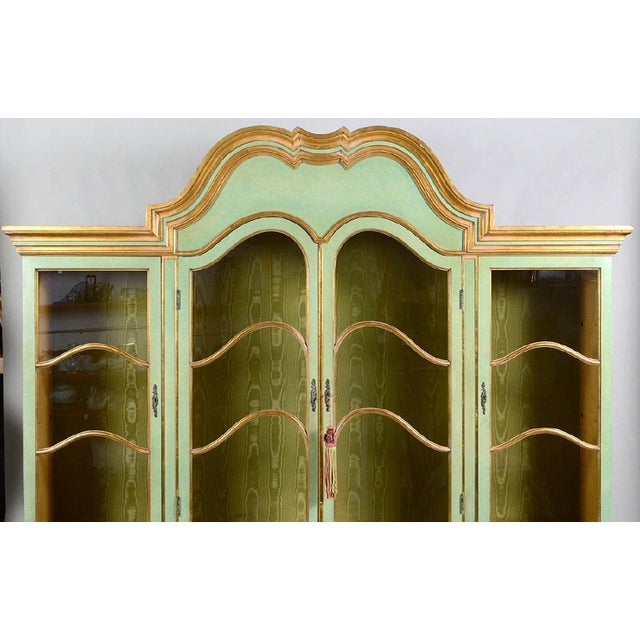 Italian Baroque Style Parcel Gilt Green Painted Cabinet - Image 2 of 5
