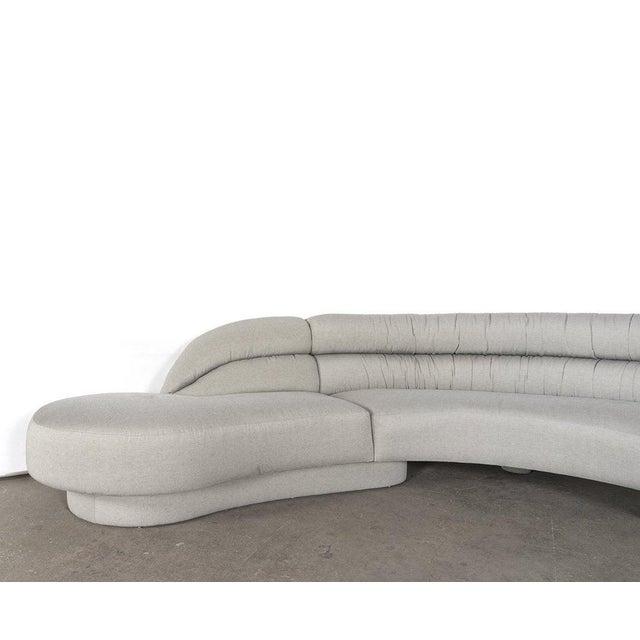 Vladimir Kagan serpentine sofa sectional.