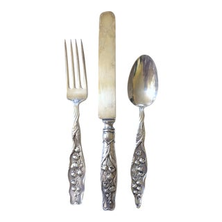 Whiting Lily of the Valley (Sterling,1885), 12 Pc. Set For Sale