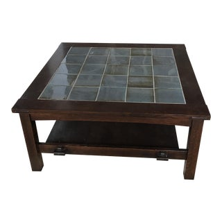 Stickley Mission Square Blue Tile Coffee Table