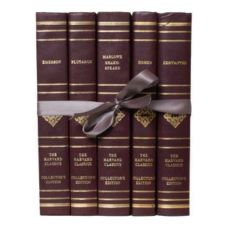 Vintage Harvard Classics Books Gift Set - 5 Books For Sale