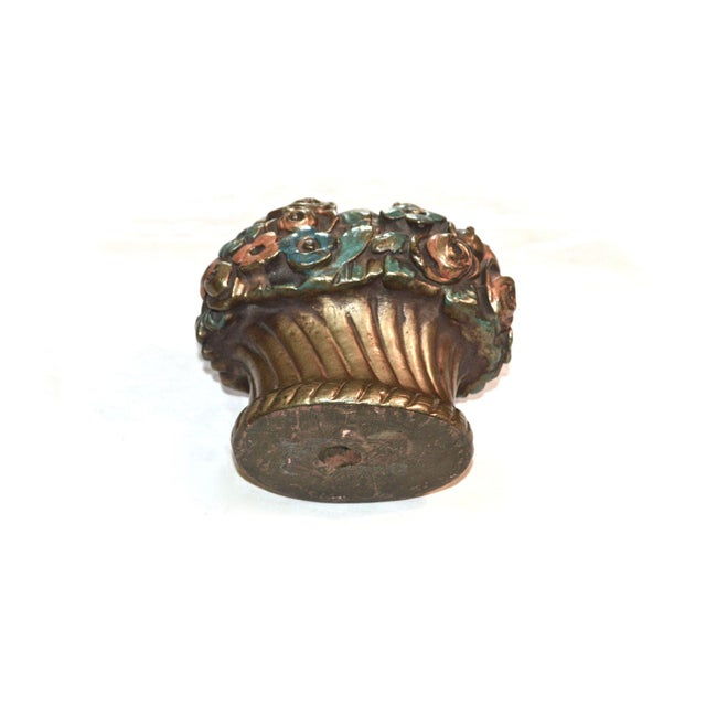 1920s 1920s French Barbotine Flower Bouquet Doorstop For Sale - Image 5 of 10