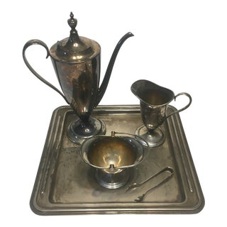 Forbes Silver Plate Co. Quadruple Plated Silver Tea Set - Set of 5 For Sale