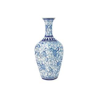 Chinoiserie Blue & White Vase For Sale