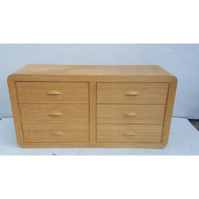 Gabriella Crespi Style Rattan Dresser. - Image 2 of 11