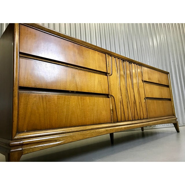 Mid-Century Nine Drawer Dresser - Image 5 of 11