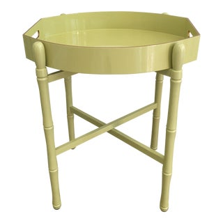 Ellipse Tray Table in Lime For Sale
