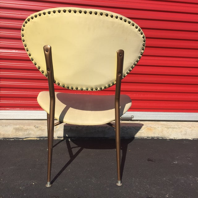 Mid-Century Modern Metal Framed Chair - Image 6 of 9
