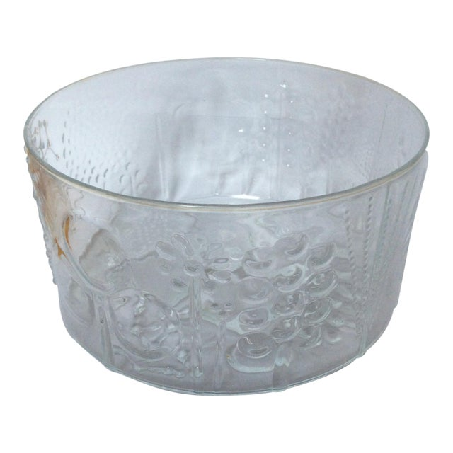 Vintage Iittala Oiva Toikka Flora Bowl For Sale