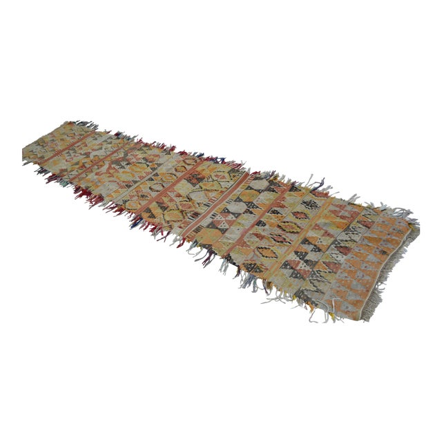 Antique Handmade Turkish Tribal Runner - 2′6″ X 13′2″ For Sale