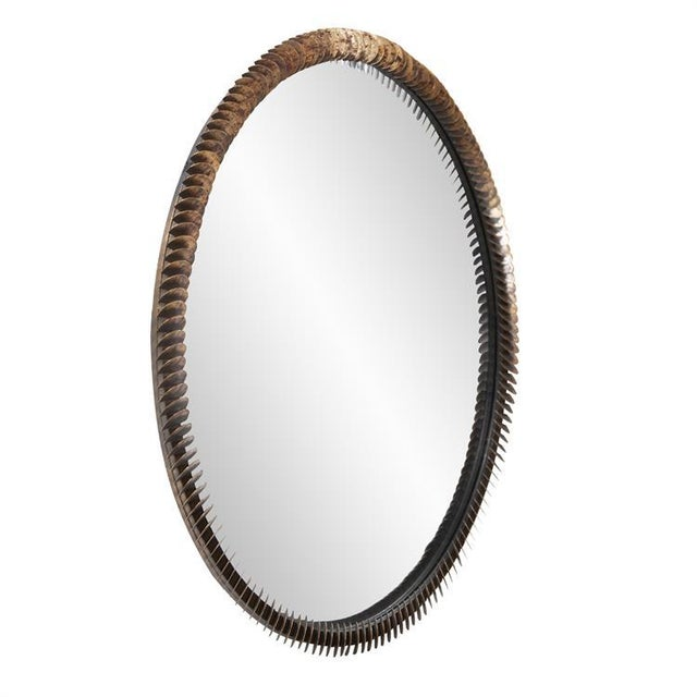 Mid-Century Modern Kenneth Ludwig Coined Copper Mirror For Sale - Image 3 of 6