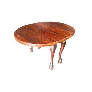 Early American 18th Century Drop-Leaf Mahogany Dining Table For Sale