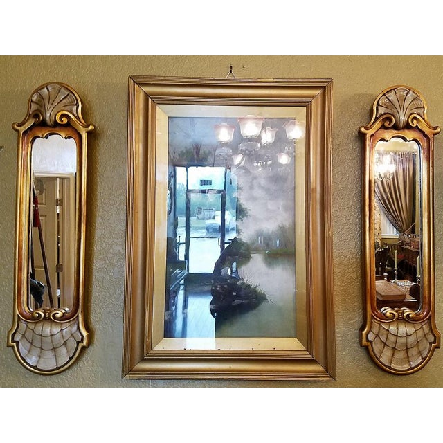 Early 20c Pair of Pier Mirrors by Thorvald Strom For Sale In Dallas - Image 6 of 14