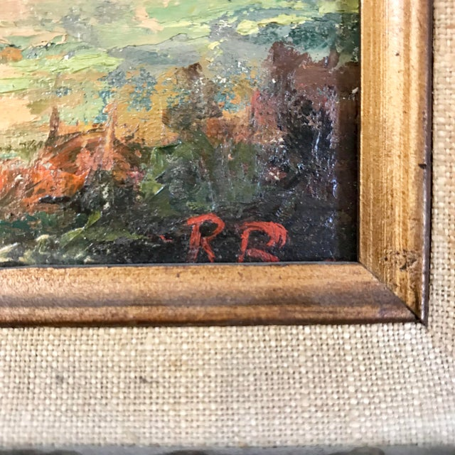 1969 Landscape Oil Painting on Canvas by Ruth Buschbaum For Sale - Image 4 of 8